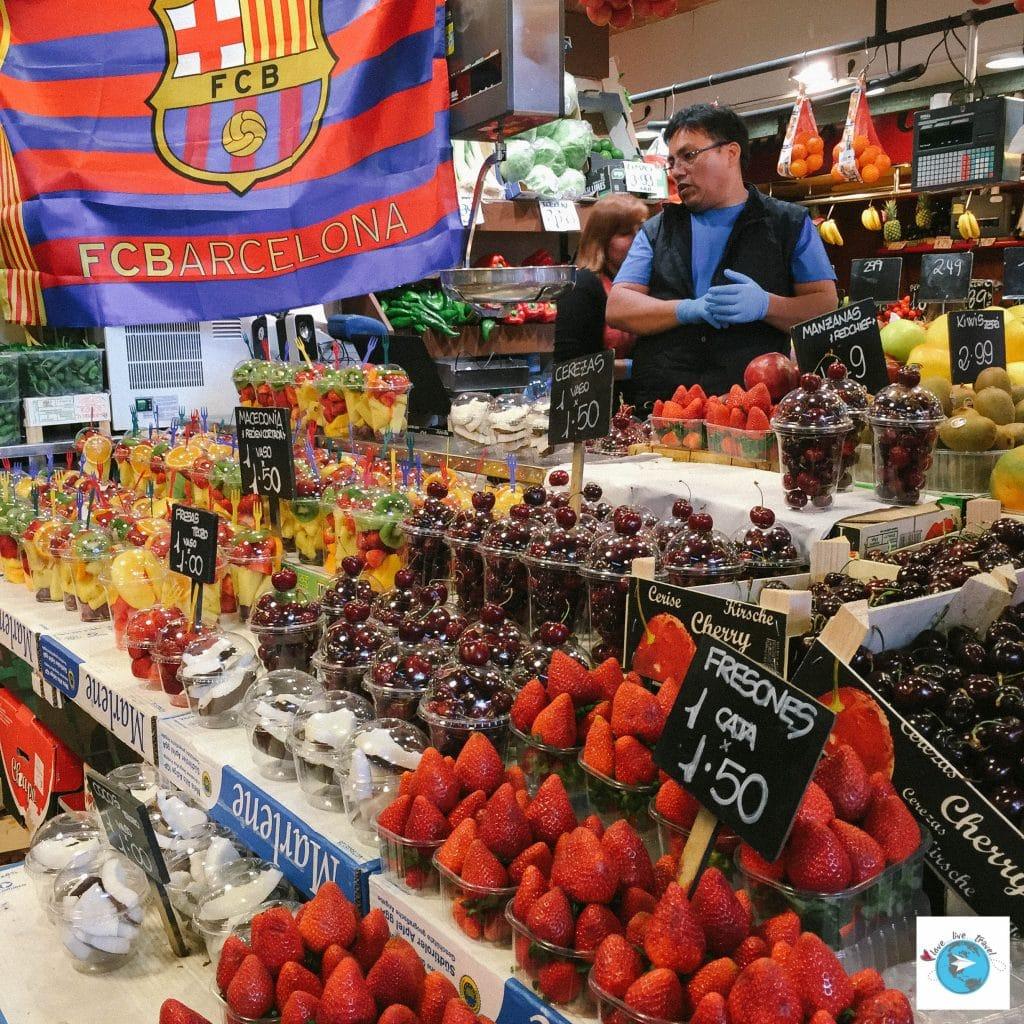 Marché Ramblas Barcelone blog voyage LoveLiveTravel