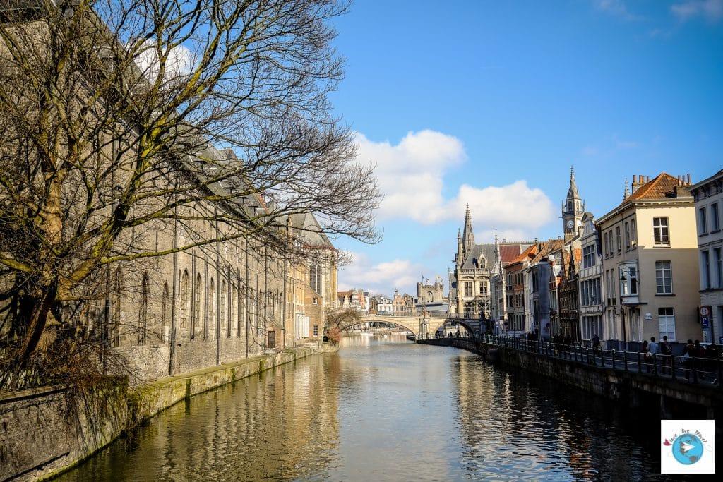Graslei Korenlei Canaux Gand belgique Flandres Love Live Travel Blog Voyage