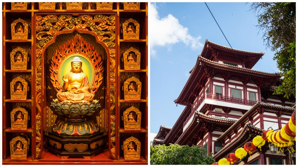 Singapour quartier Chinatown Buddha Touth Relic Temple blog voyage lovelivetravel