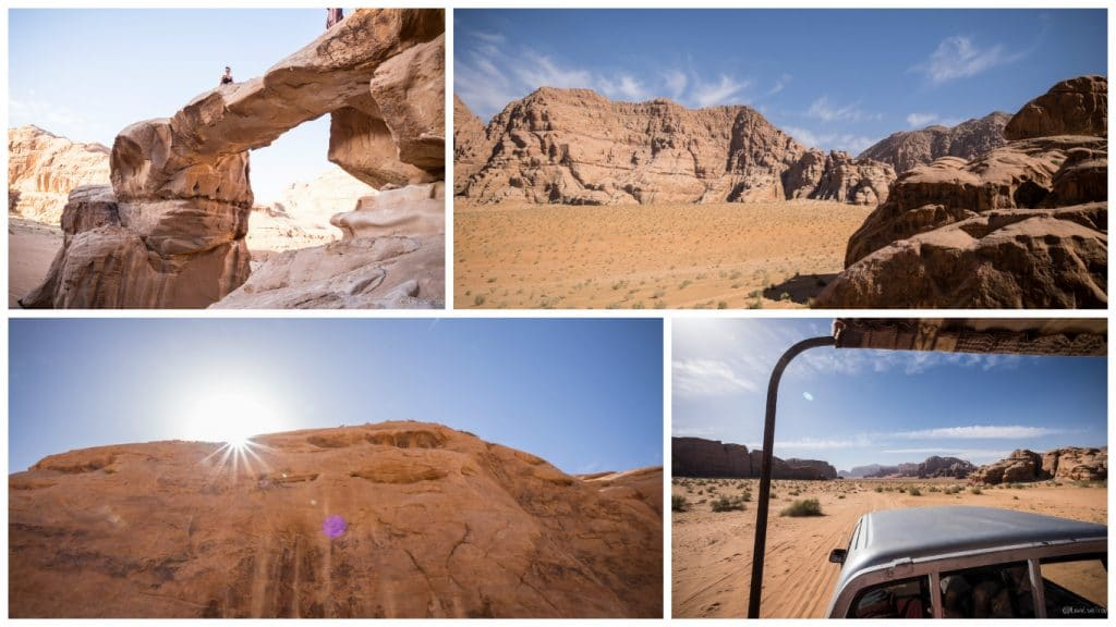 Wadi rum Jebel Burdah rock bridge Roadtrip Jordanie blog voyage Love Live Travel
