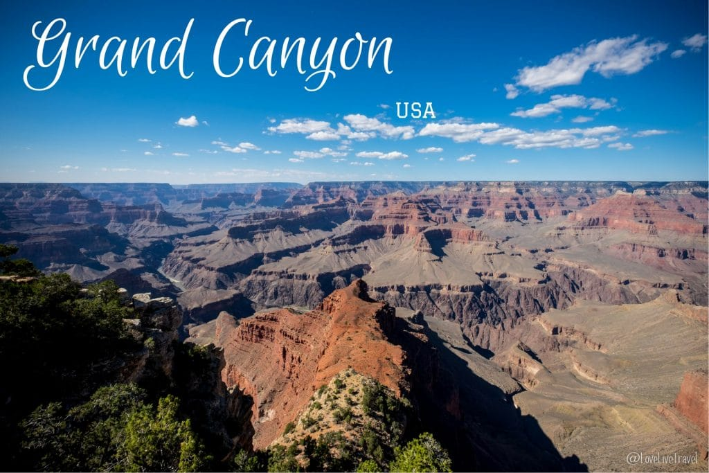 Grand Canyon hermit's rest roadtrip usa blog voyage Lovelivetravel