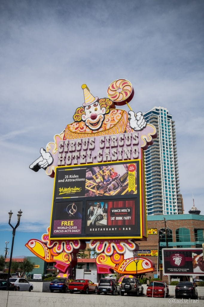 Las Vegas circus circus Nevada Road trip USA blog voyage LoveLiveTravel
