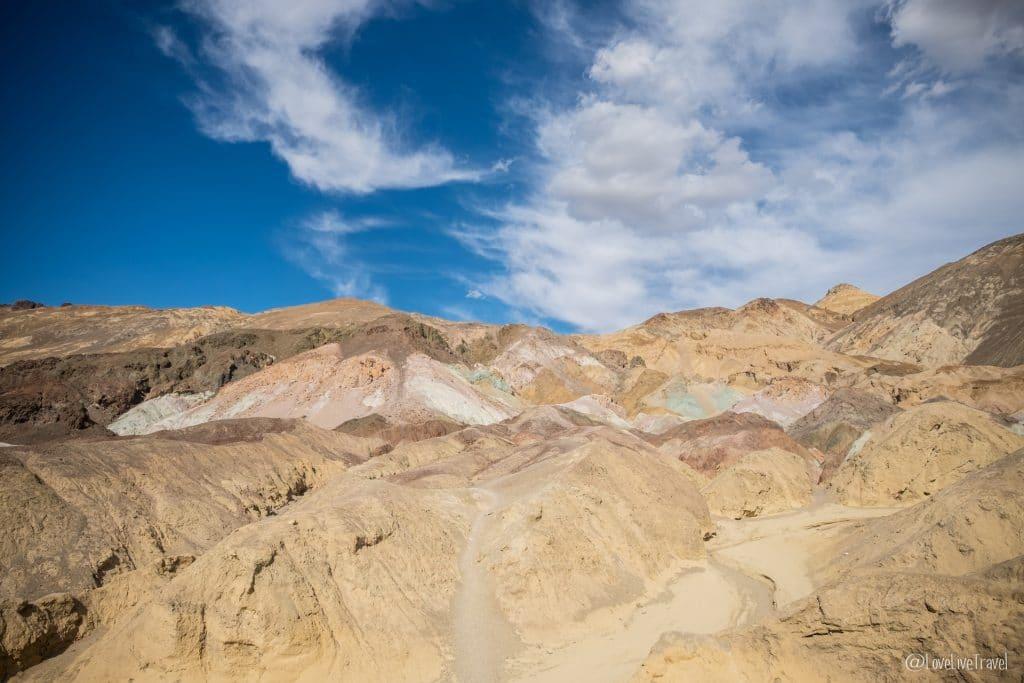 Artist's palette Death Valley Californie nevada road trip usa blog voyage lovelivetravel