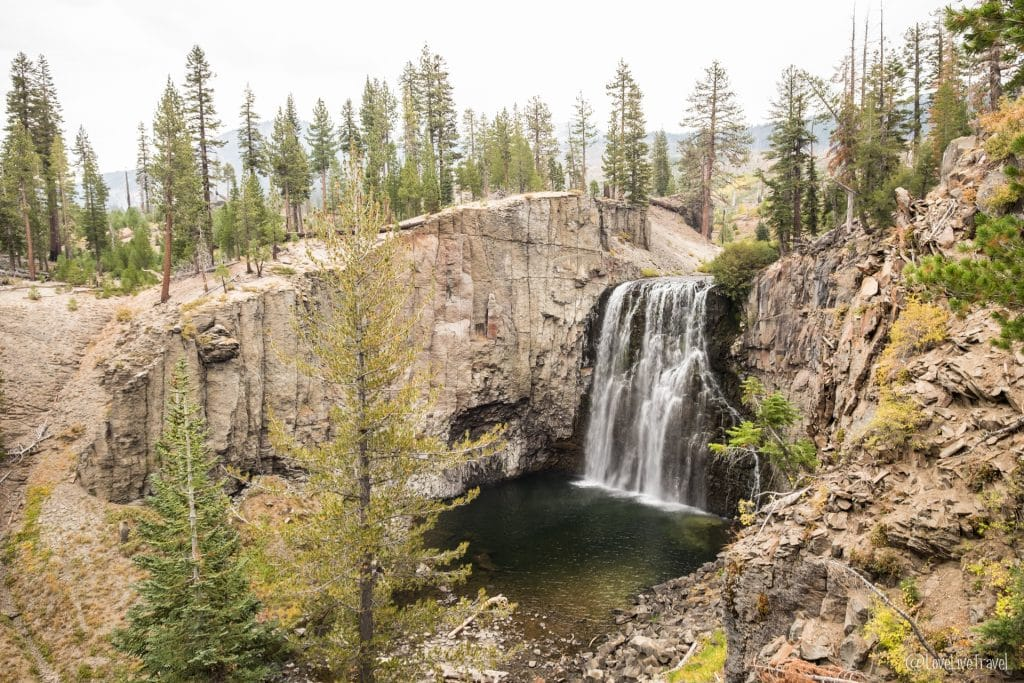 Mammoth lakes Rainbow falls californie road trip usa blog voyage lovelivetravel