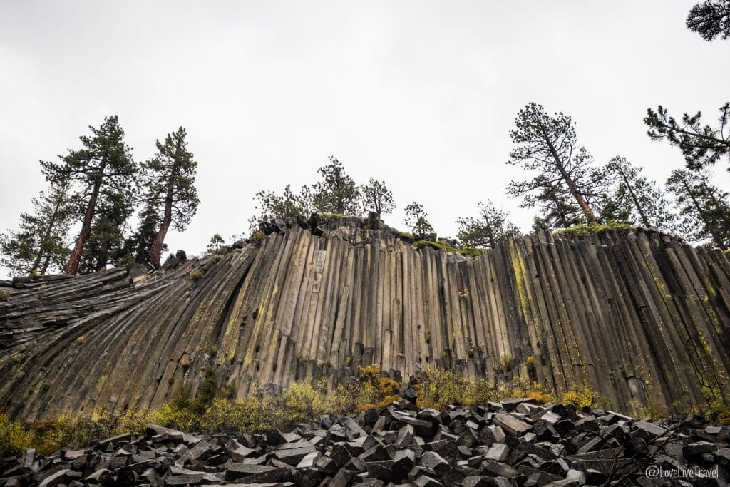 Mammoth lakes devils postpile californie road trip usa blog voyage lovelivetravel