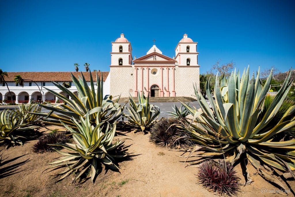 old mission santa barbara highway 1 road trip usa californie blog voyage lovelivetravel