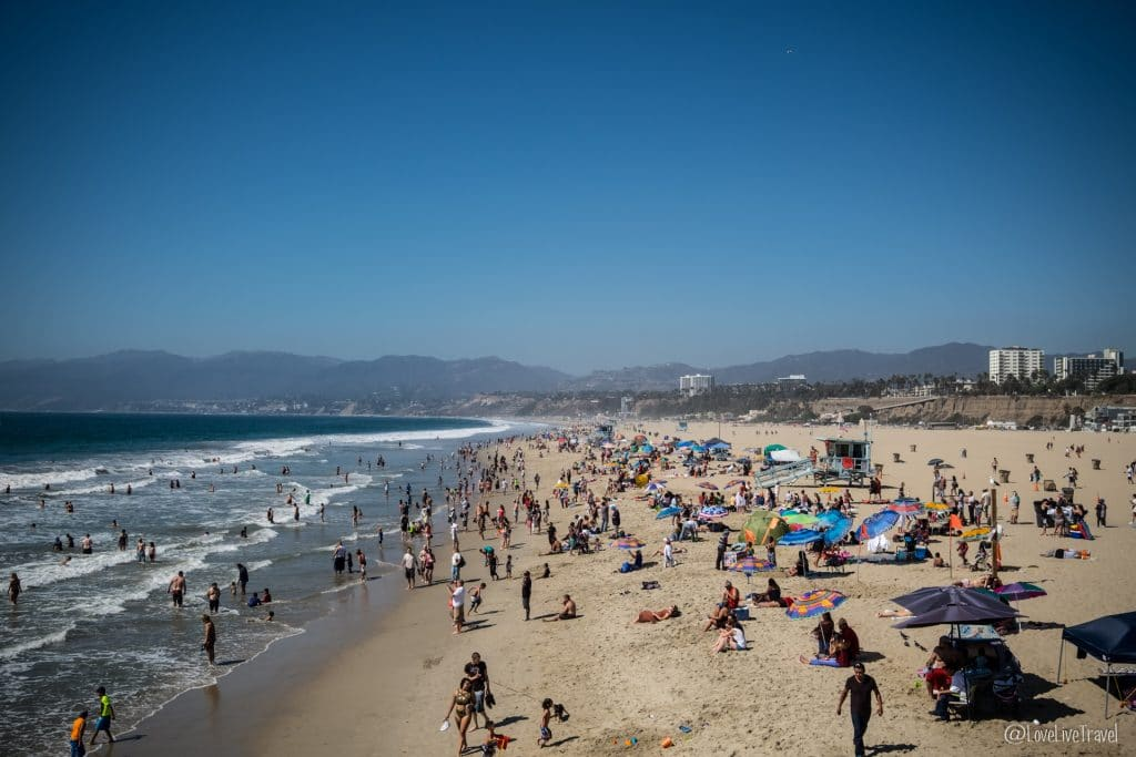 Santa Monica beach Los Angeles Californie Road trip USA blog voyage Lovelivetravel