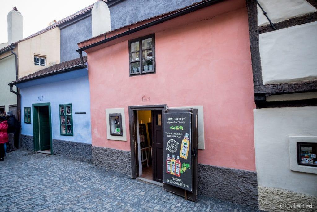 Prague république tchèque ruelle d'or blog voyage lovelivetravel
