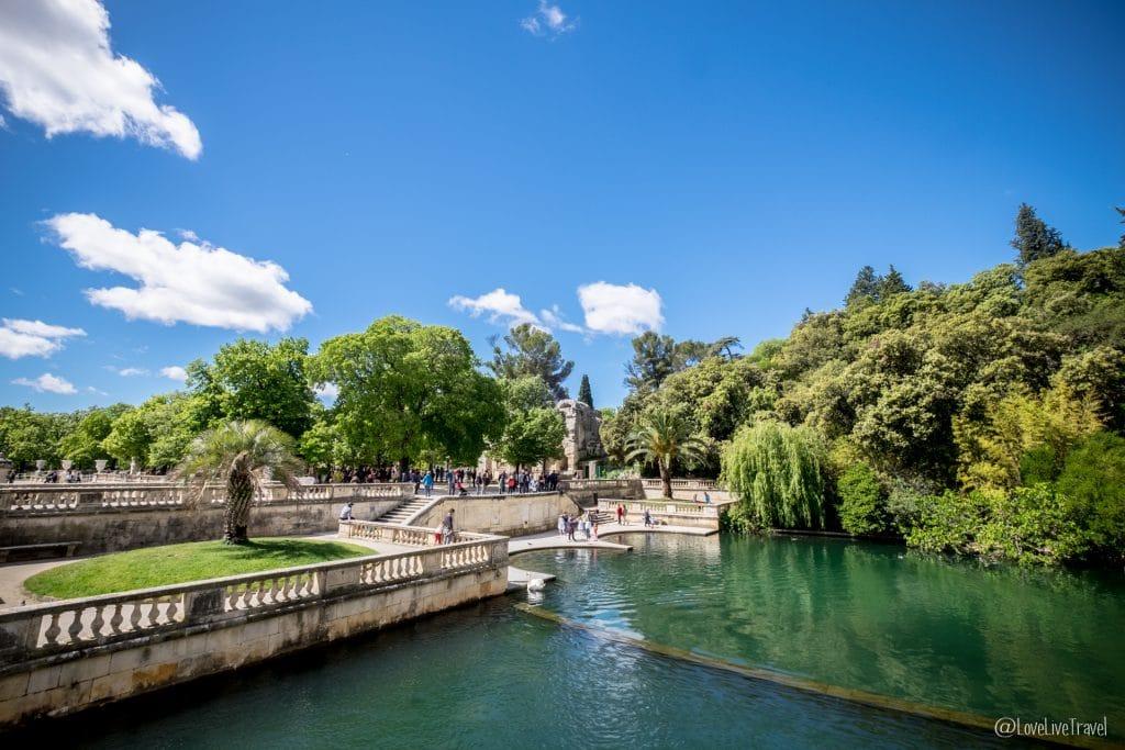 Nîmes jardin fontaine Gard France Jeux romains blog voyage lovelivetravel