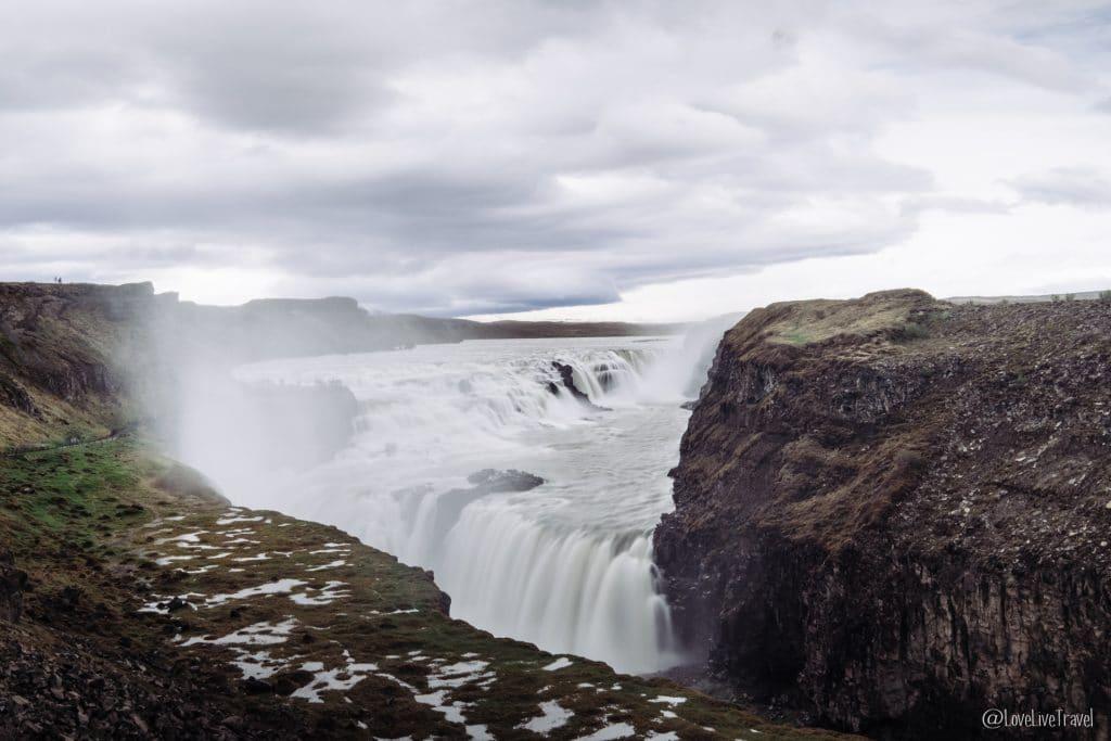 Chutes d'eau Gullfoss Islande blog voyage lovelivetravel