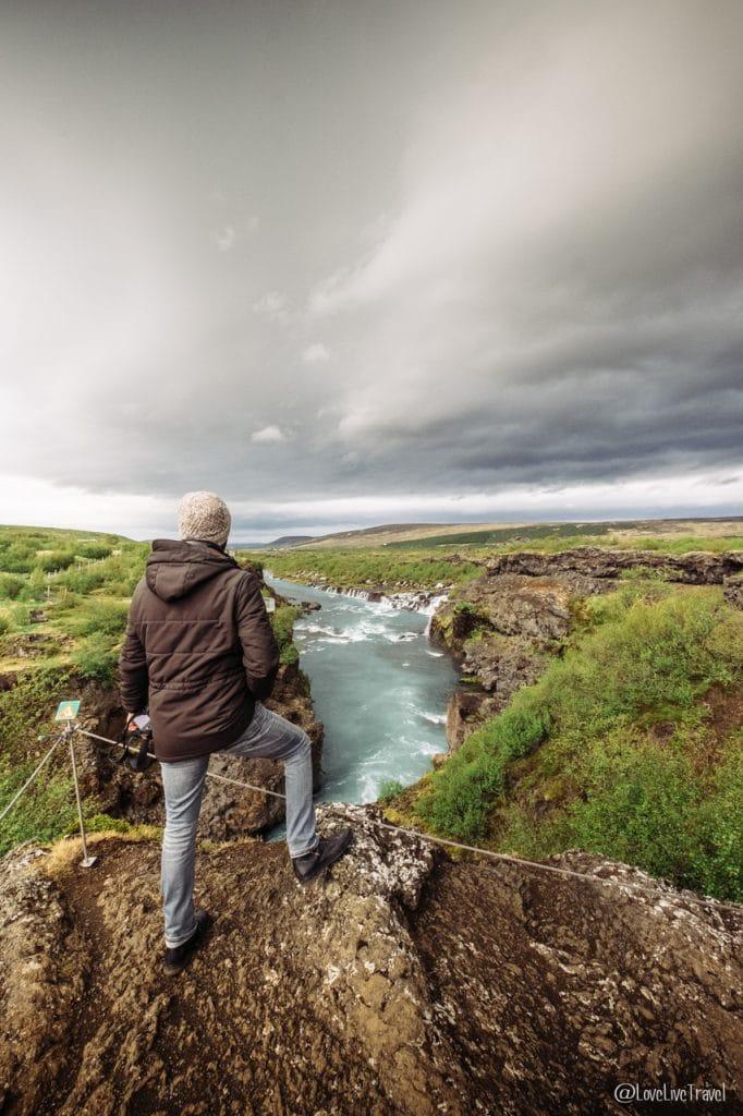 chutes Hraunfossar Islande blog voyage lovelivetravel