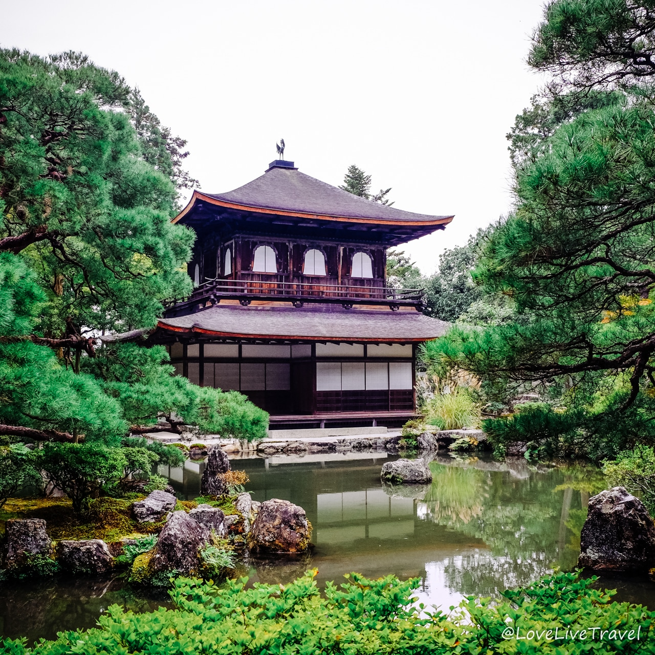 Ginkakuji temple du pavillon d'argent Kyoto Japon Blog Voyage Lovelivetravel