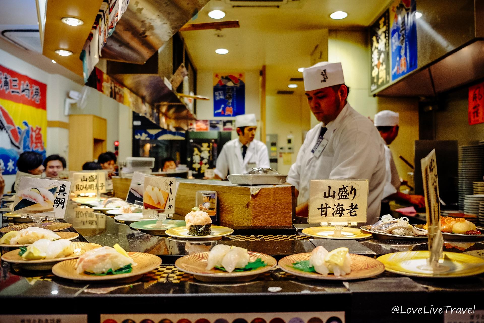 sushis Tokyo Japon blog voyage Lovelivetravel