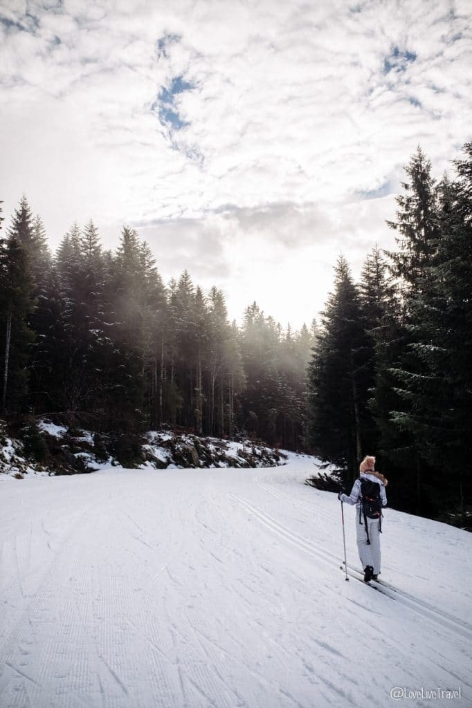 Massif des vosges france ski neige blog voyage lovelivetravel biathlon