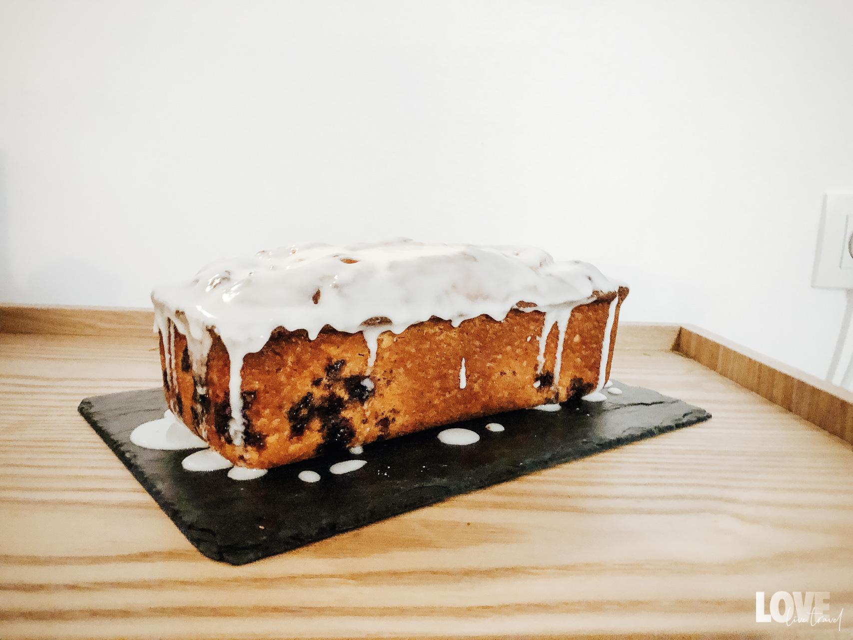 Recette du cake au citron et myrtilles